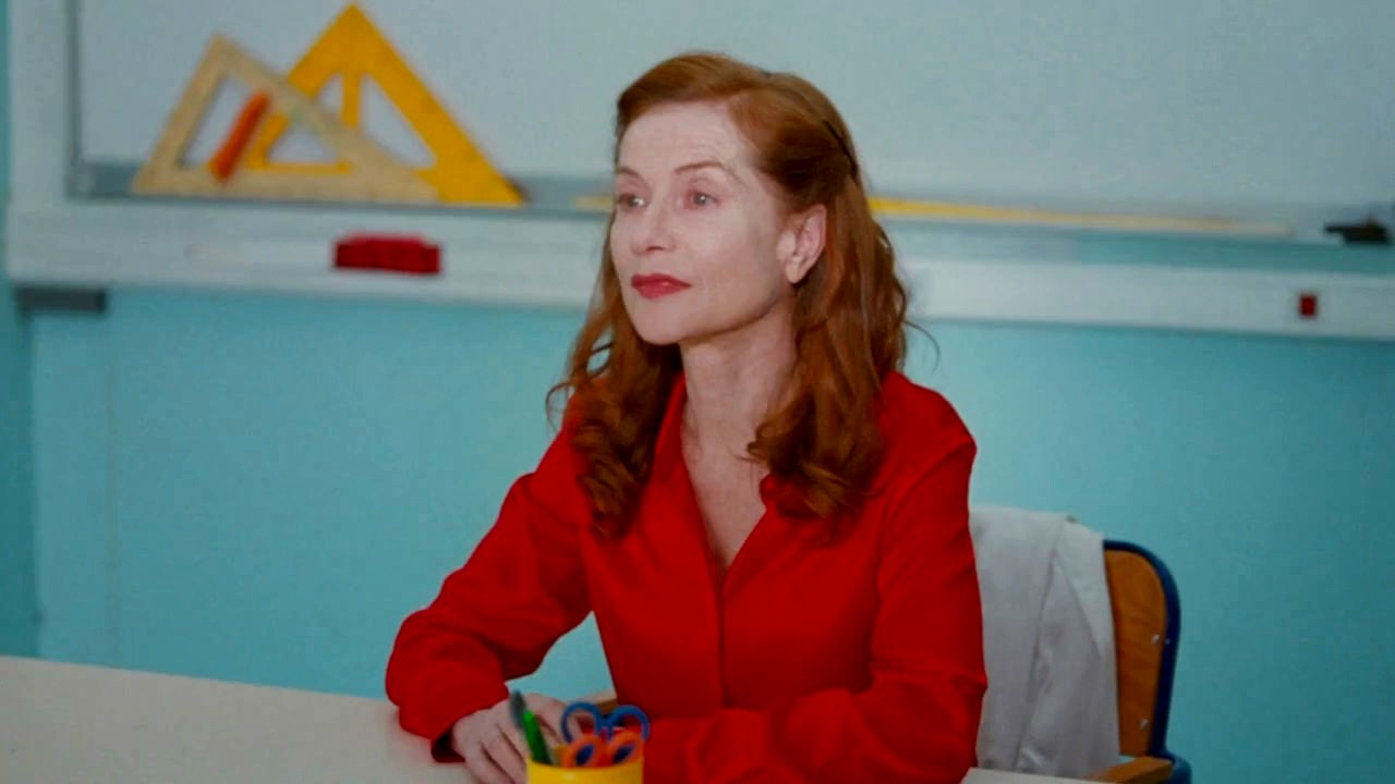 Isabelle Huppert as schoolteacher Marie Jequil in Madame Hyde (2017)