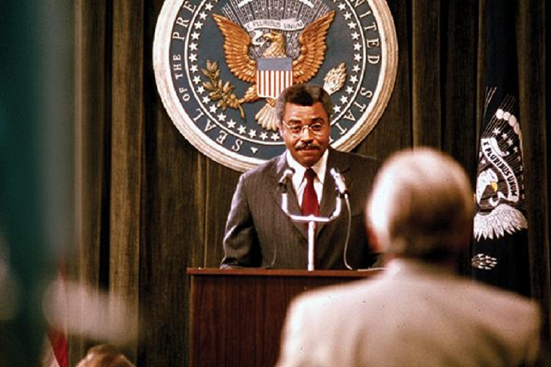James Earl Jones as Douglas Dillman, the first Black President of the USA (36 years before the real thing) in The Man (1972)