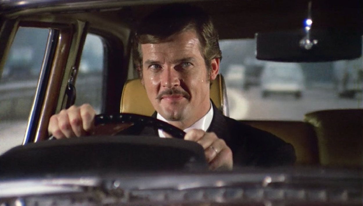 Mild-mannered businessman Harold Pelham (Roger Moore)'s life is taken over by a malevolent doppelganger in The Man Who Haunted Himself (1970)