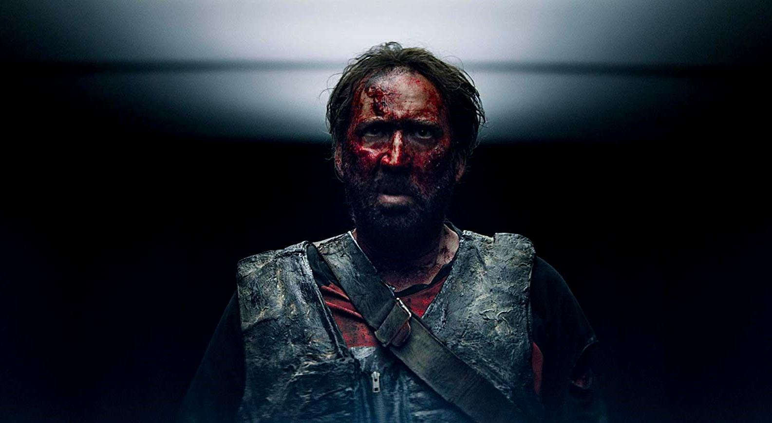 A blood-drenched Nicolas Cage seeks revenge in Mandy (2018)