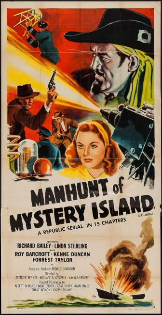 Manhunt of Mystery Island (1945) poster