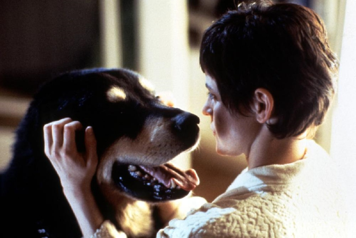 Ally Sheedy and Max the genetically engineered dog in Man's Best Friend (1993)