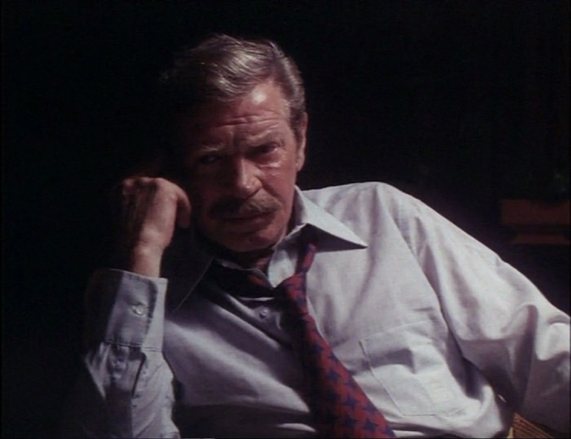 Richard Basehart as the mad surgeon Dr Chaney in Mansion of the Doomed (1976)