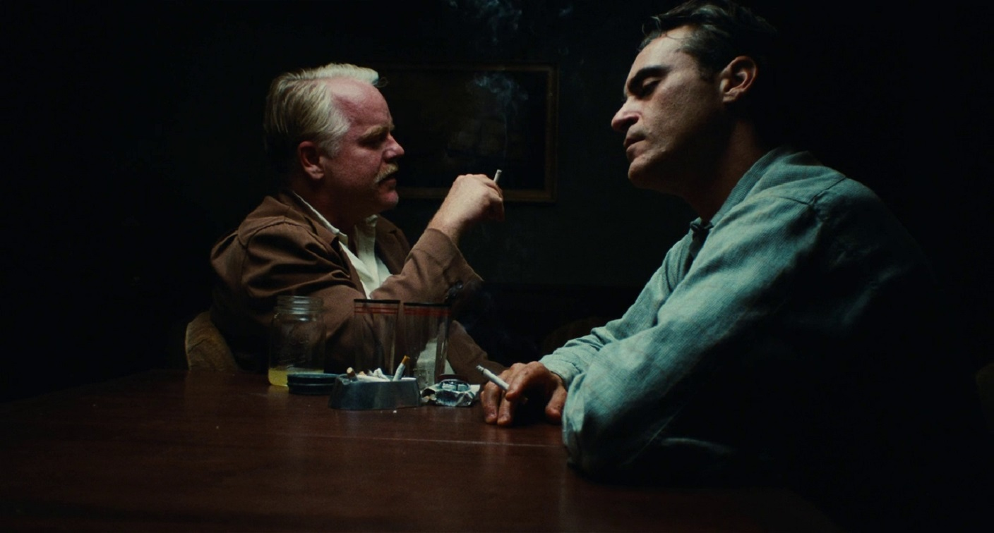 (l to r) Lancaster Dodd (Philip Seymour Hoffman) and Fredie Quell (Joaquin Phoenix) in The Master (2012)