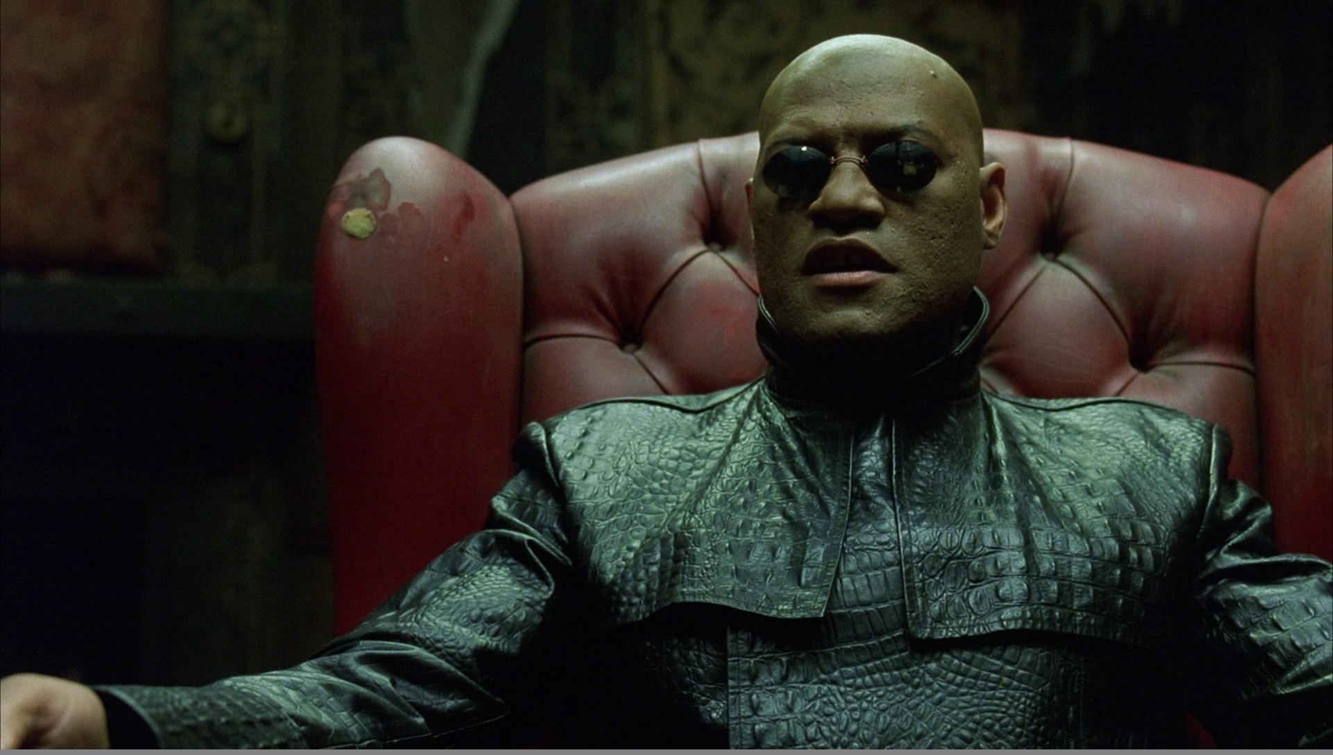 """The blue pill or the red pill?"" - Laurence Fisburne as Morpheus in The Matrix (1999)"