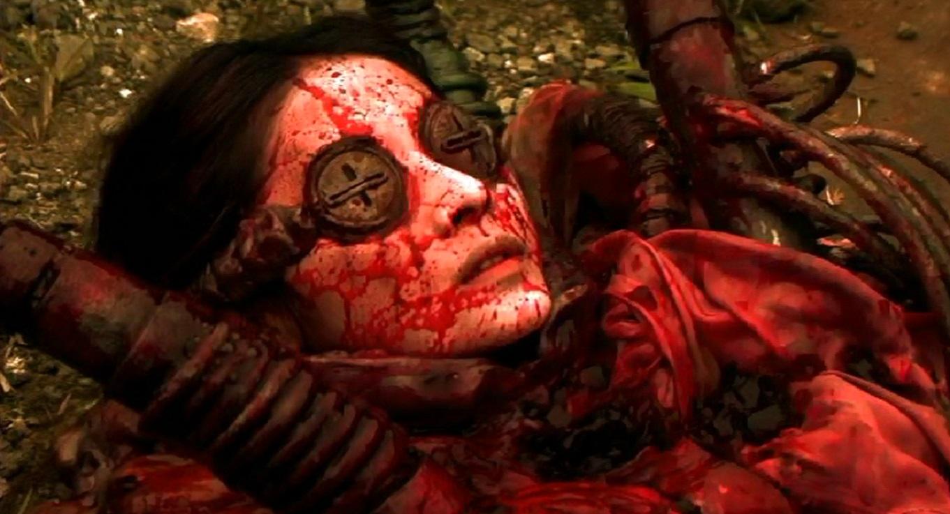 Aoba Kawai transformed into a bio-mechanoid Necroborg in Meatball Machine (2005)