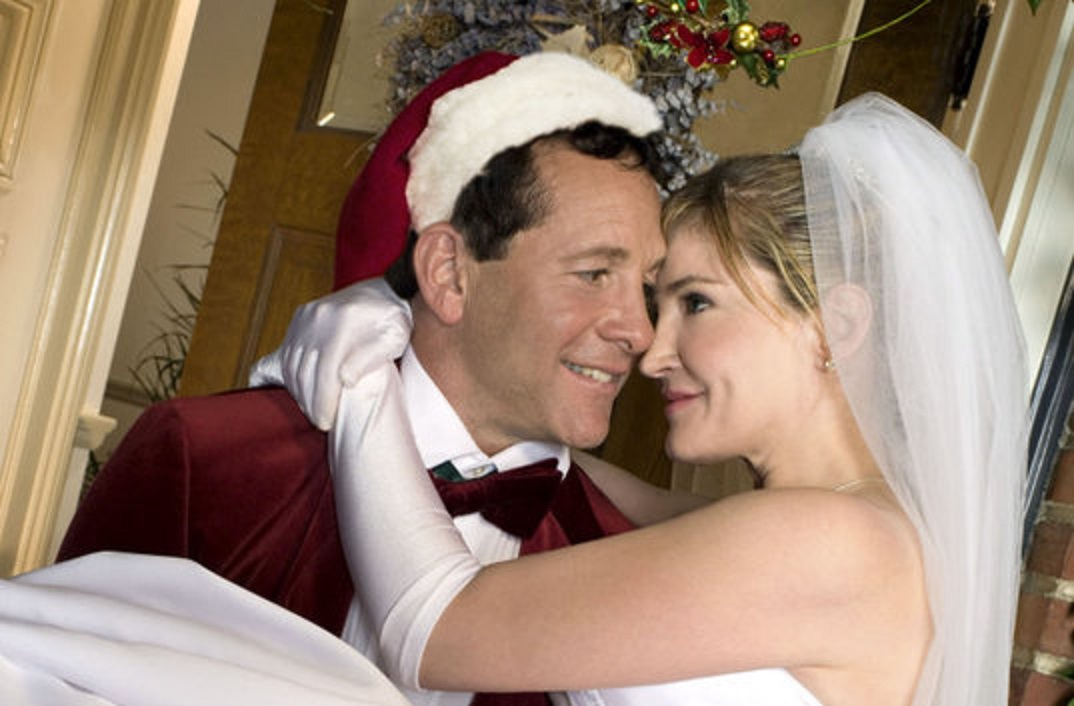 Santa's son (Steve Guttenberg) and Crystal Bernard tie the knot in Meet the Santas (2005)