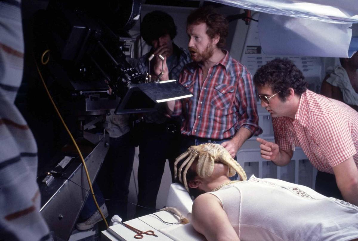 Ridley Scott shooting Alien