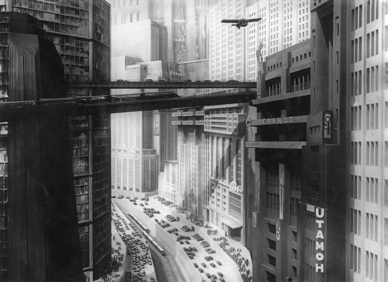 The amazing city of the future in Metropolis (1927)