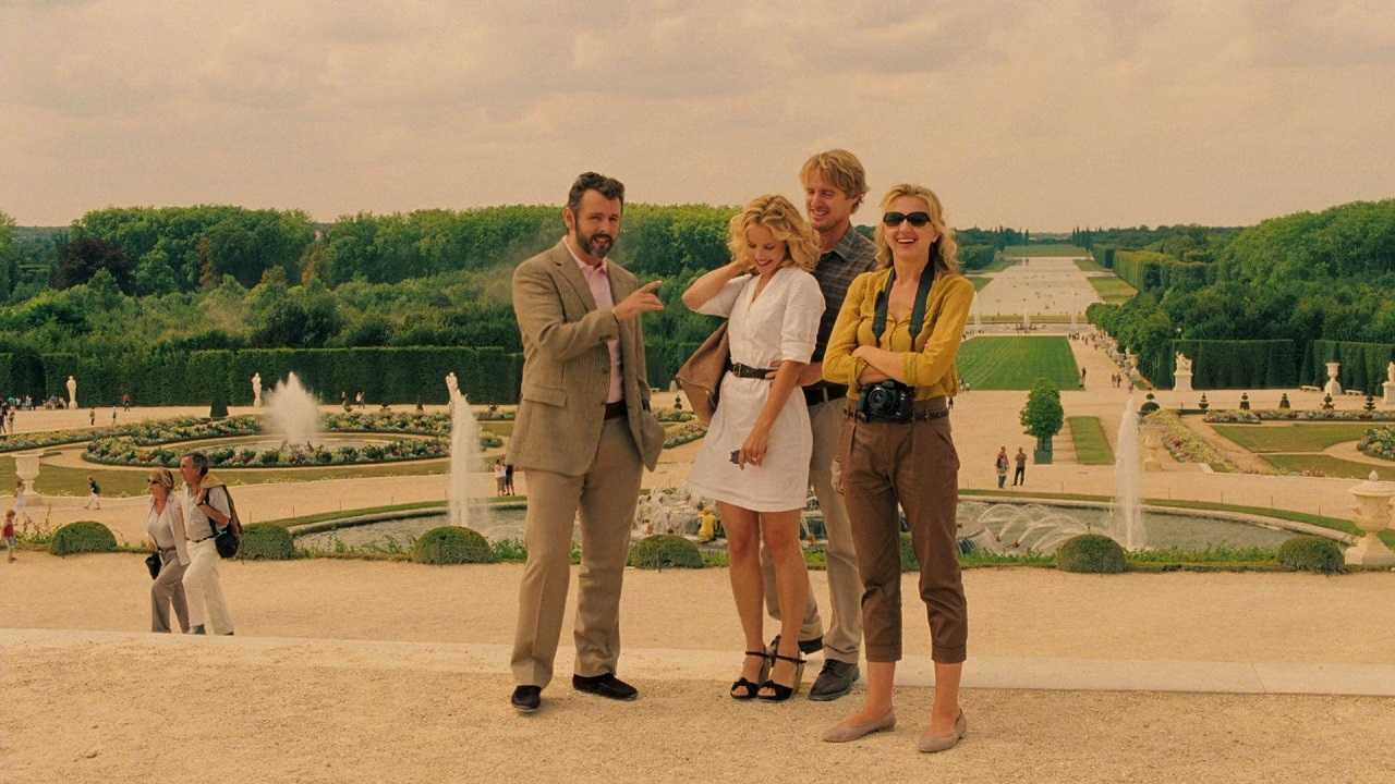 Michael Sheen, Rachel McAdams, Owen Wilson and Nina Arianda in Midnight in Paris (2011)