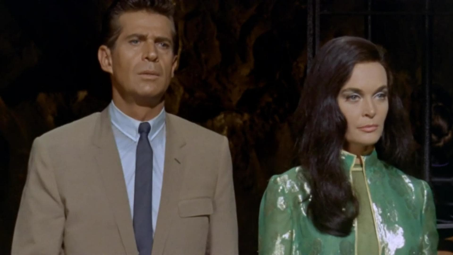 CIA agent Nick West (George Nader) and Sumuru (Shirley Eaton) in The Million Eyes of Sumuru (1967)