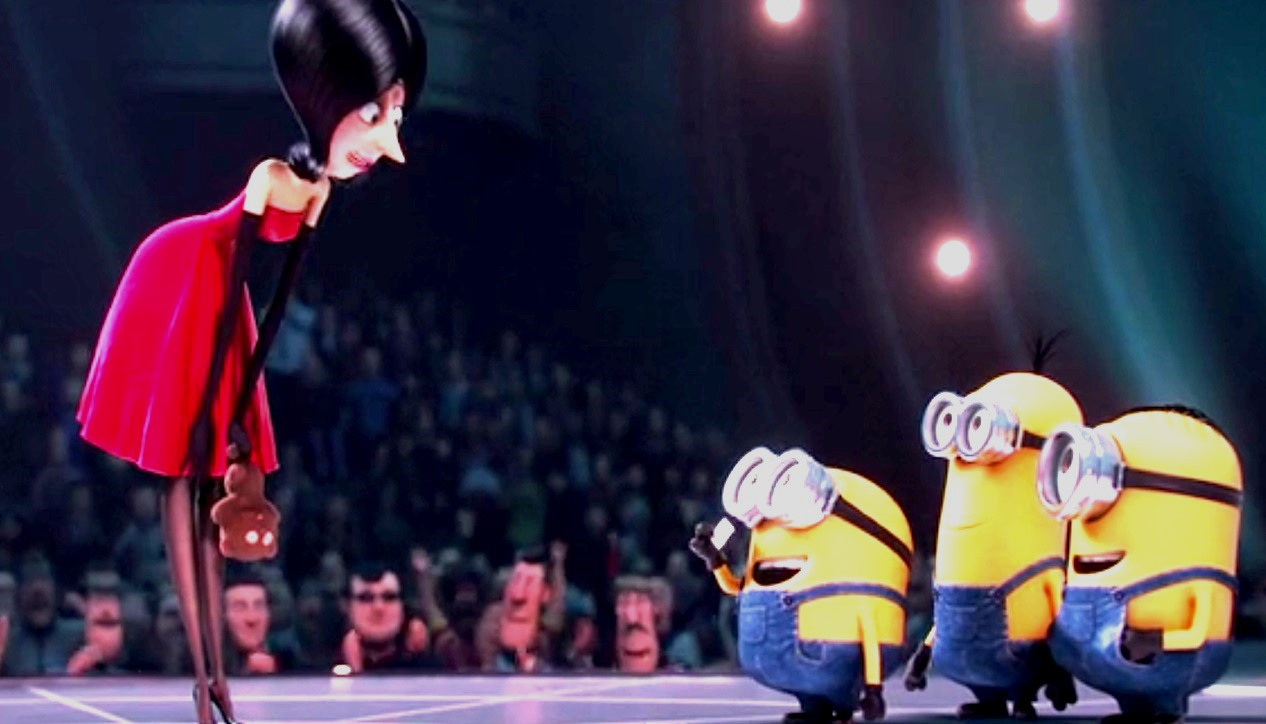 The Minions find a new mistress Scarlet Overkill (voiced by Sandra Bullock) in Minions (2015)