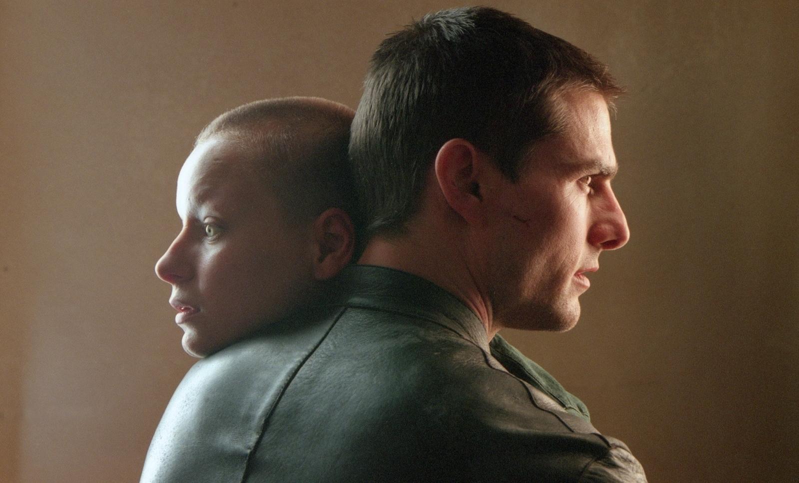 Tom Cruise and Precog Samantha Morton in Minority Report (2002)