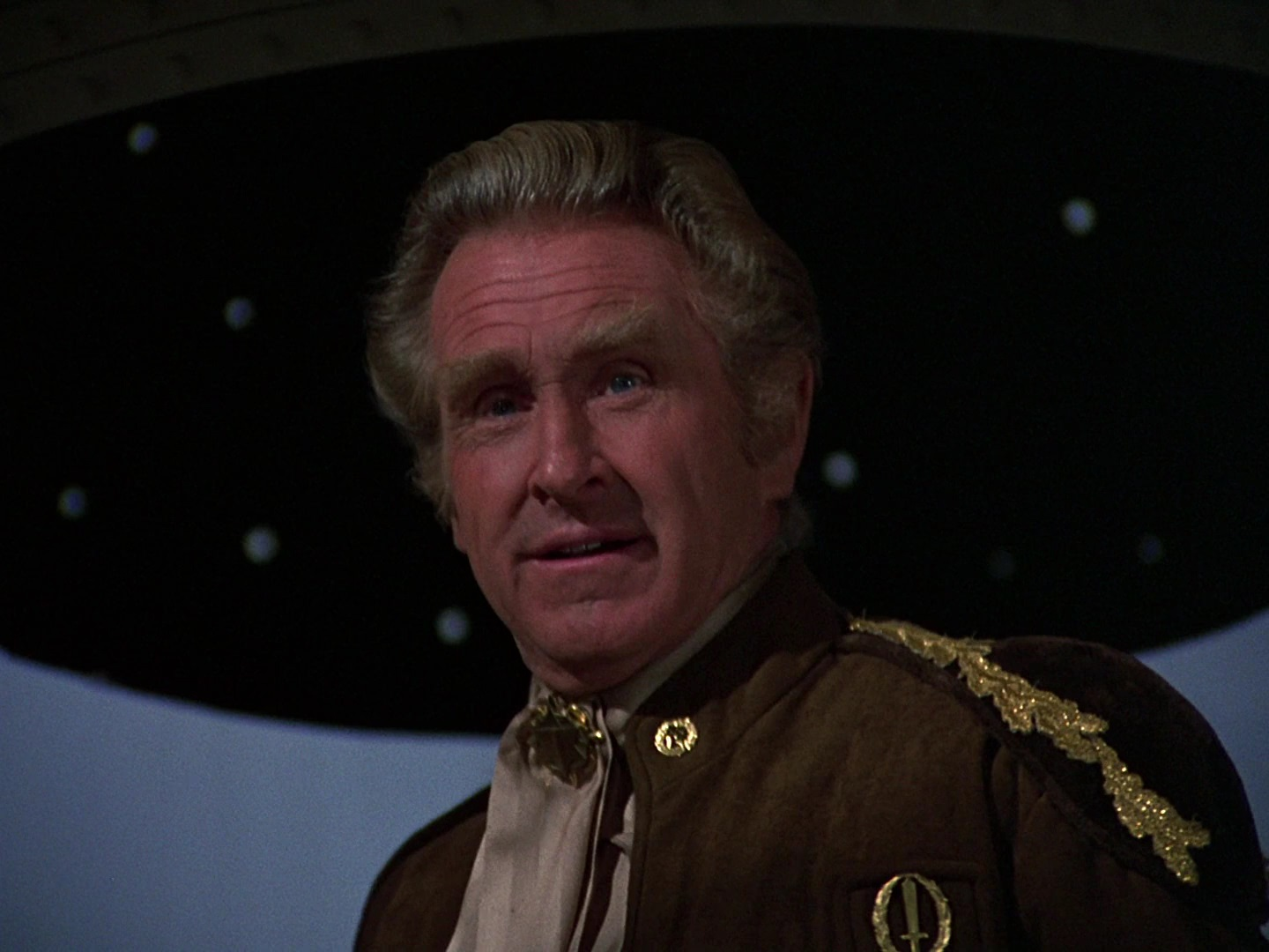 Commander Cain (Lloyd Bridges) in Mission Galactica The Cylon Attack (1979)