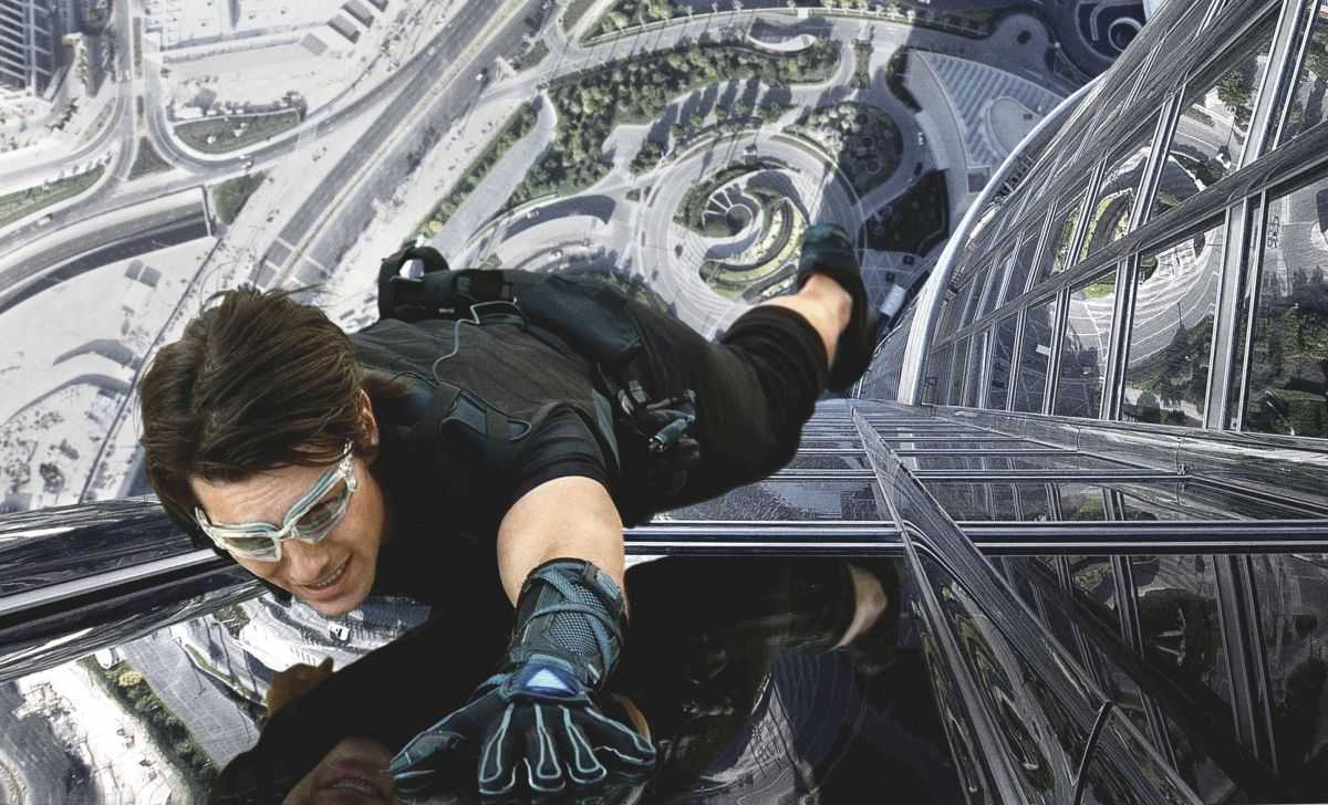 Tom Cruise's hair-rising climb along the outside of the Burj Khalifa in Mission Impossible Ghost Protocol (2011)