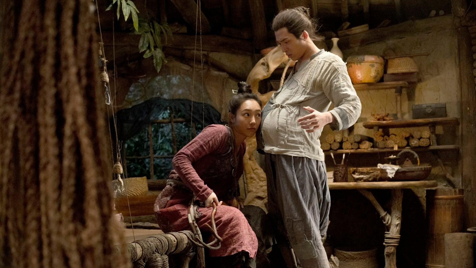 Monster hunter Bai Baihe and a pregnant Jing Boran in Monster Hunt (2015)