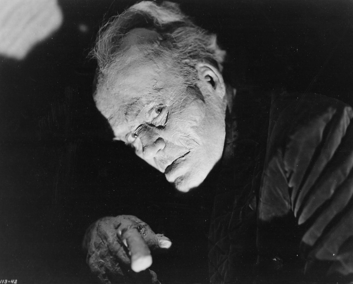 An acromegaly infected Ralph Morgan in The Monster Maker (1944)