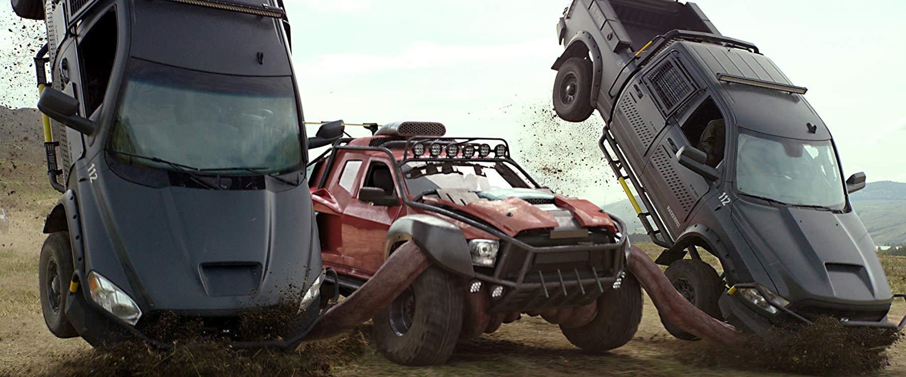 Creech in action in Monster Trucks (2016)