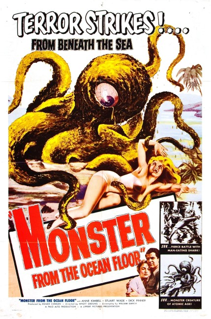 Monster from the Ocean Floor (1954) poster
