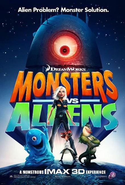 Monsters vs Aliens (2009) poster