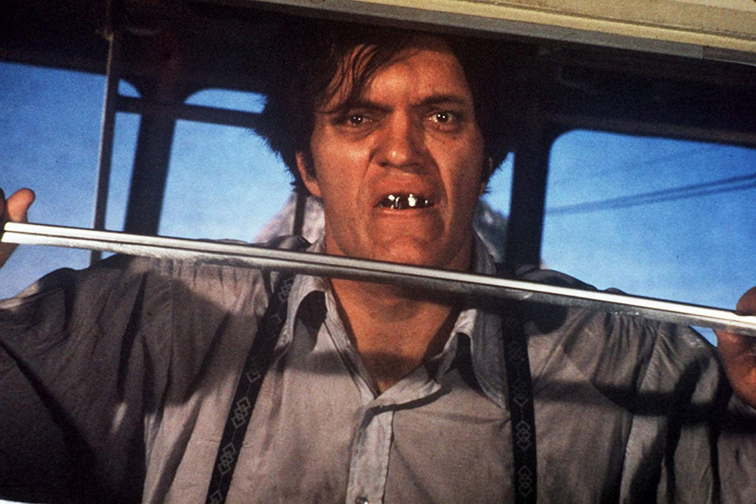 The steel-toothed henchman Jaws (Richard Kiel) in Moonraker (1979)