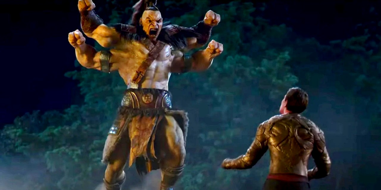 Cole Young (Lewis Tan) faces Goro in Mortal Kombat (2021)