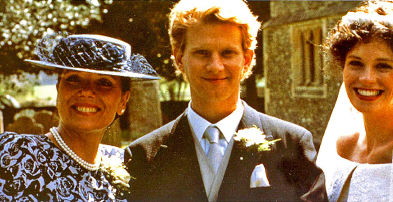 (l to r) Mother Diana Rigg, son James Wilby and his wife Fiona Gillies in v