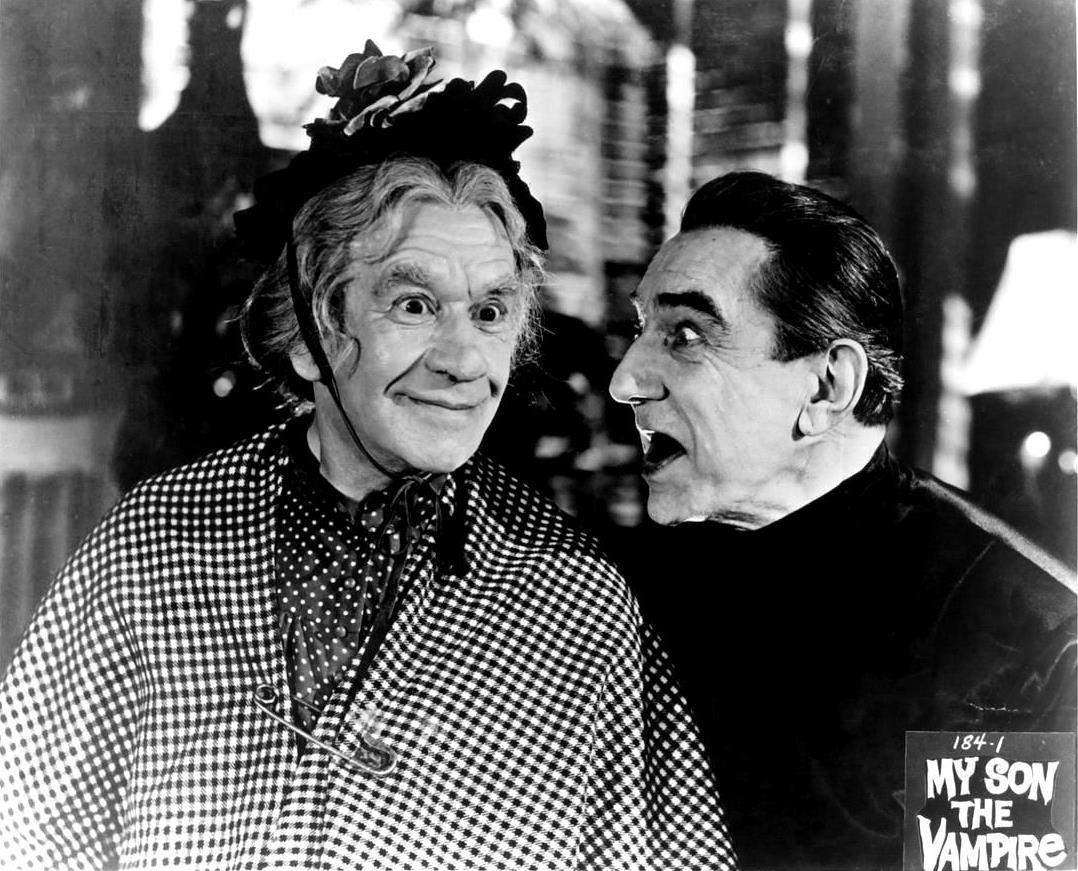 Mother Riley (Arthur Lucan) meets Van Houten, The Vampire (Bela Lugosi) in Mother Riley Meets the Vampire (1952)