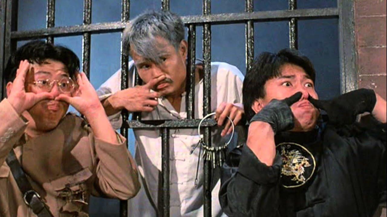 Captain Wai (Billy Lau), Master Kau (Lam Ching-Ying) and Man Choi (Ricky Hui) in Mr Vampire (1985)
