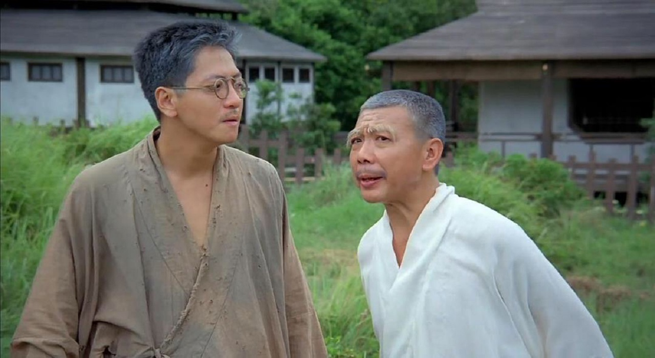 Four-Eyed Taoist (Anthony Chan) and Yi-yau (Wu Ma) in Mr Vampire 4 (1988)