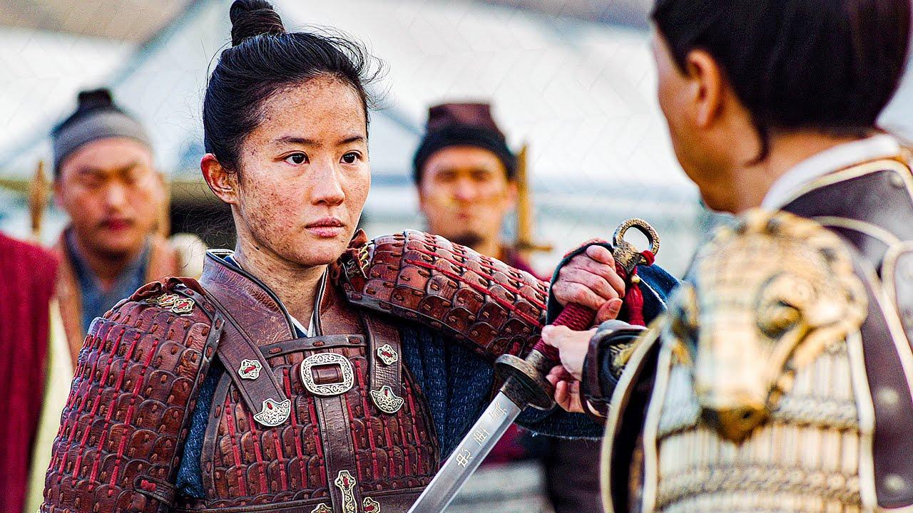 Yifei Liu as Mulan in training in Mulan (2020)
