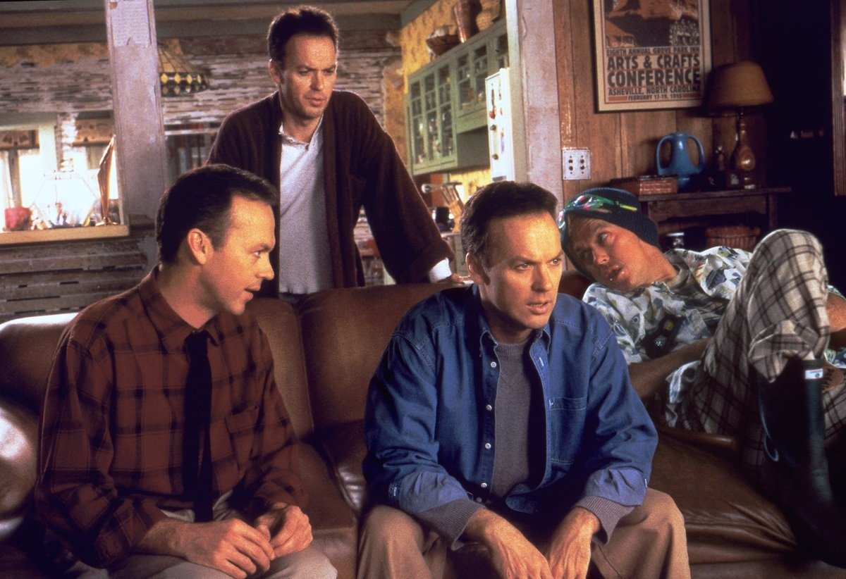 Michael Keaton and clones in Multiplicity (1996)