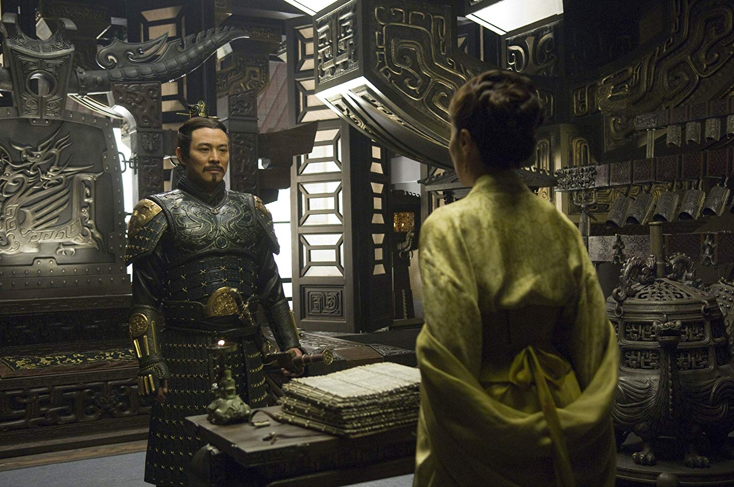 Jet Li as the Dragon Emperor in The Mummy: Tomb of the Dragon Emperor (2008)