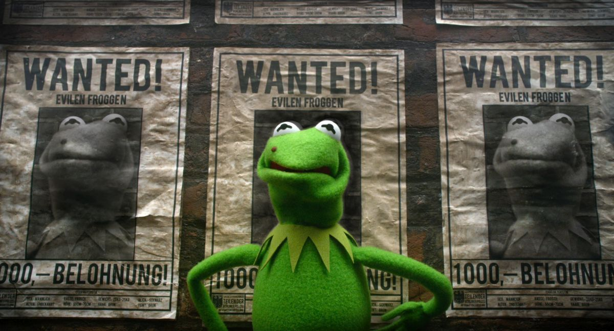 Kermit the Frog - international fugitive in Muppets Most Wanted (2014)