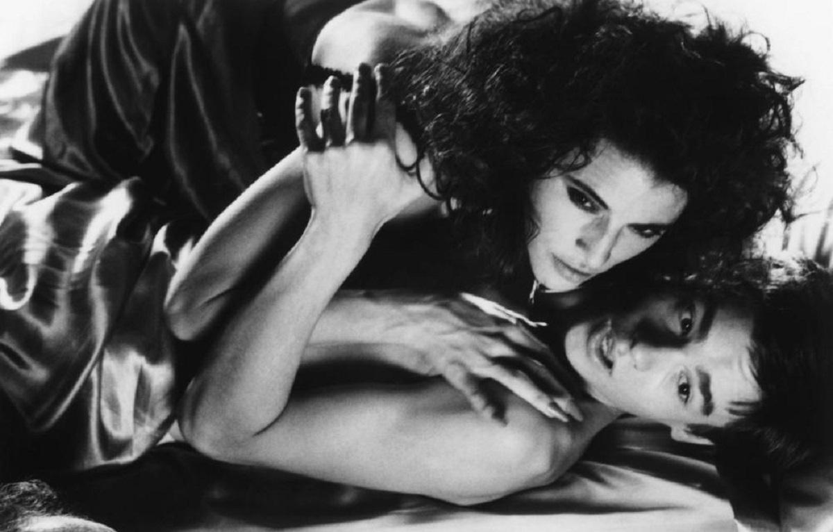 Robert Sean Leonard has the bite put on him by vampire Cecilia Peck in My Best Friend is a Vampire (1987)