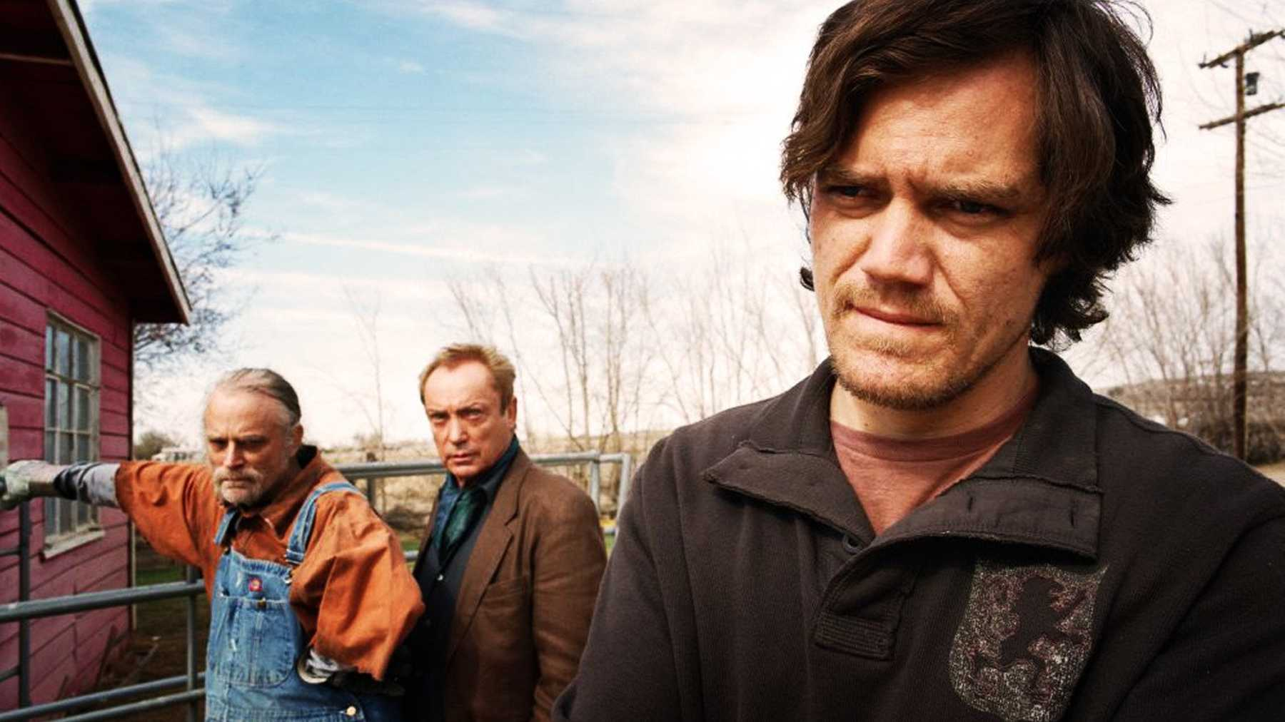 Ostrich farmer Brad Dourif, acting coach Udo Kier and Brad MacCallam (Michael Shannon) in My Son, My Son, What Have Ye Done (2009)
