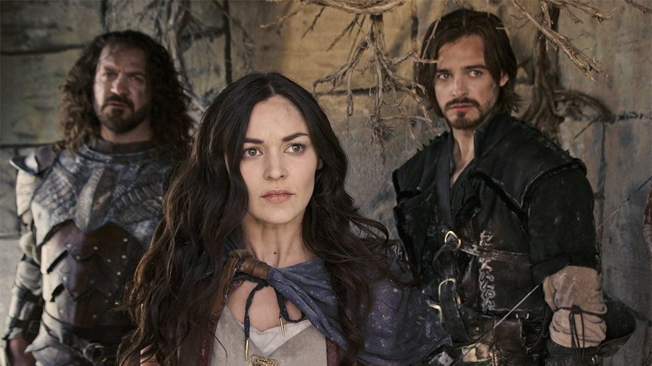 Thane (Adam Johnson), Marek (Melanie Stone) and Dagen (Jake Stormoen) in Mythica: The Iron Crown (2016)
