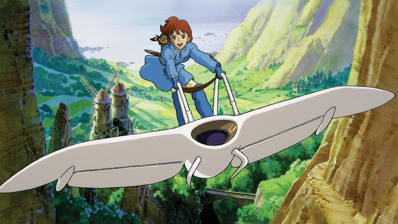 Nausicaa in flight in Nausicaa in the Valley of the Wind (1984)