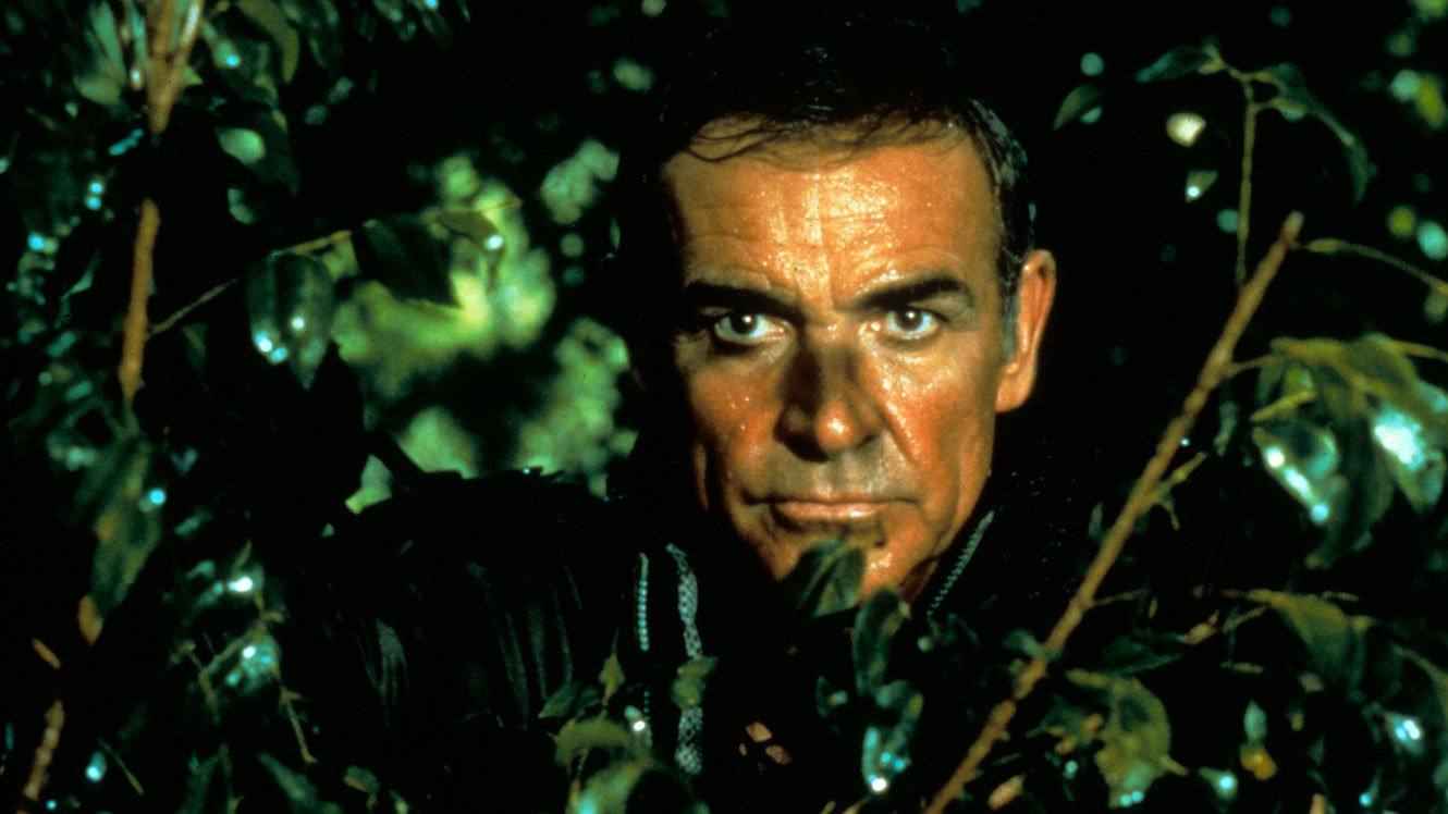 Sean Connery back again as James Bond in Never Say Never Again (1983)