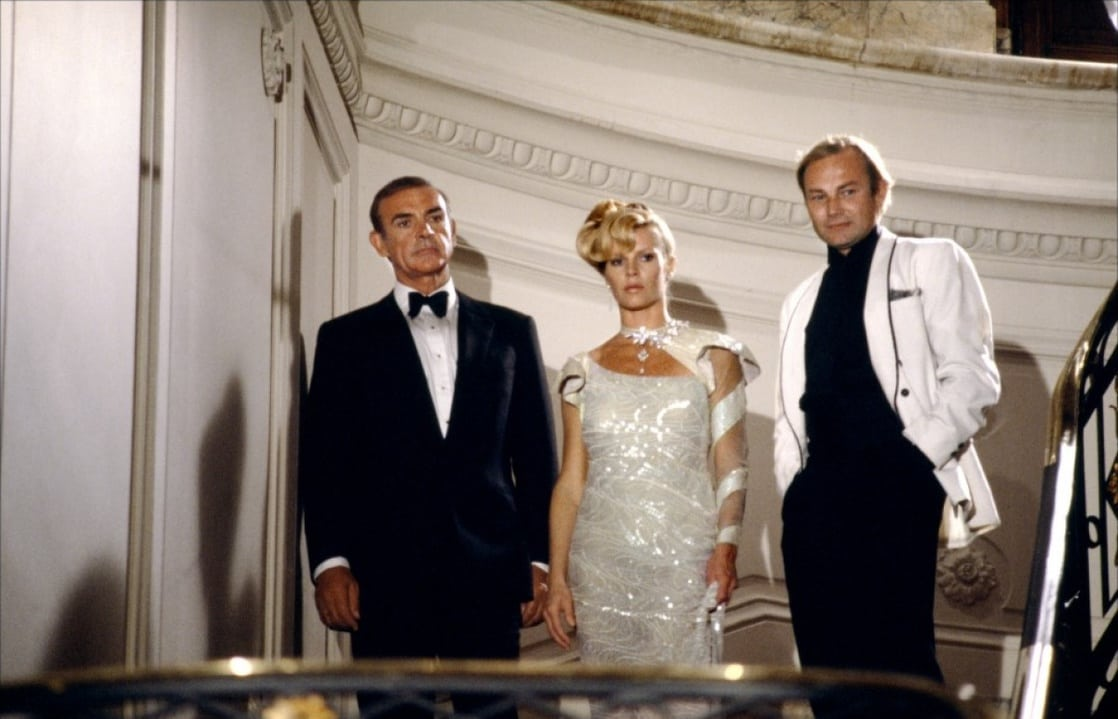 James Bond (Sean Connery), Domino (Kim Basinger) and Emilio Largo (Klaus Maria Brandauer) in Never Say Never Again (1983)