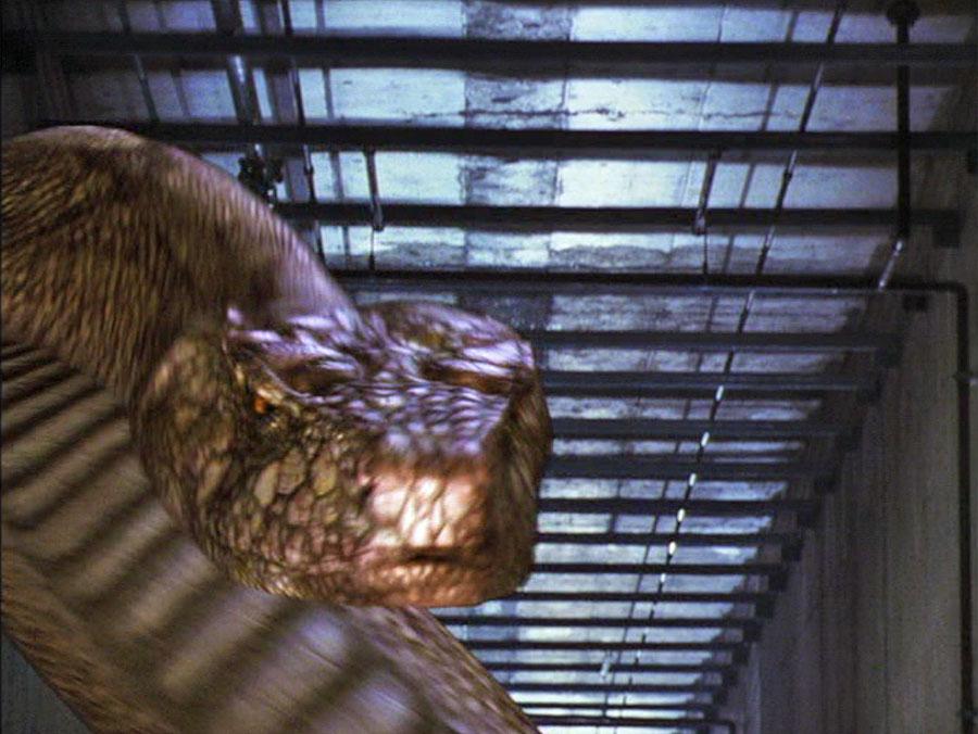 The giant snake in New Alcatraz (2002)
