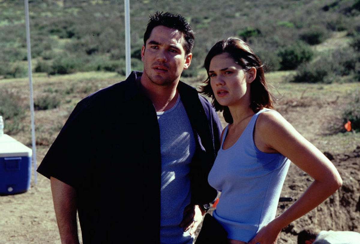 Palaentologist Dean Cain and wife Elizabeth Lackey in New Alcatraz (2002)