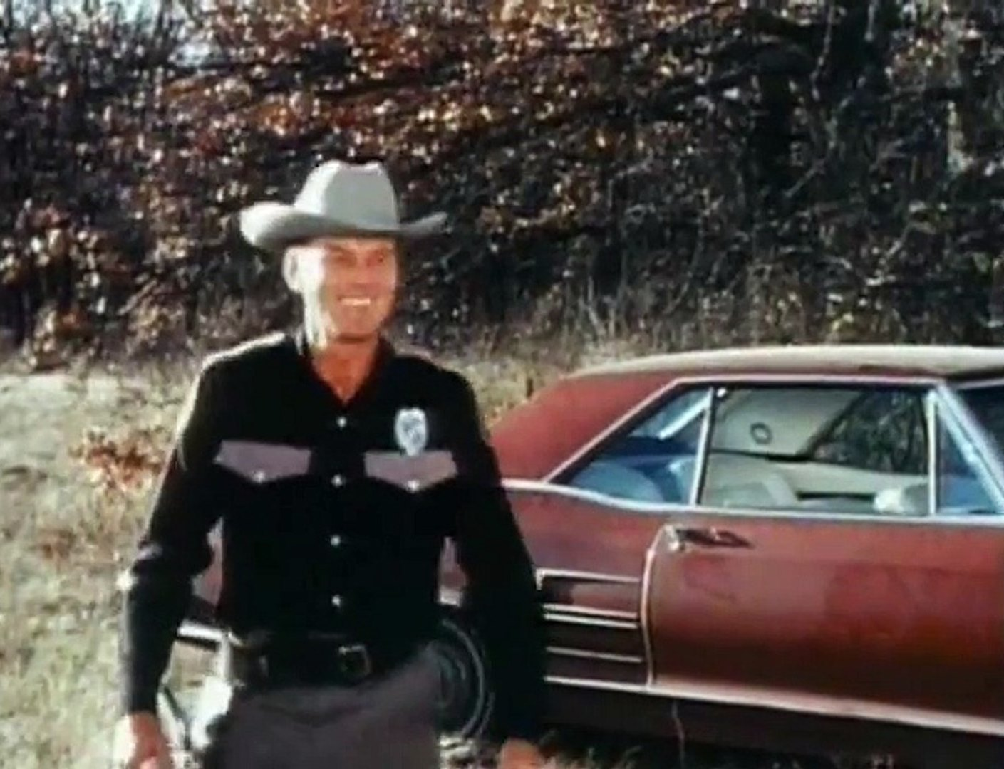 John Agar as Sheriff Clint Crawford in Night Fright (1967)