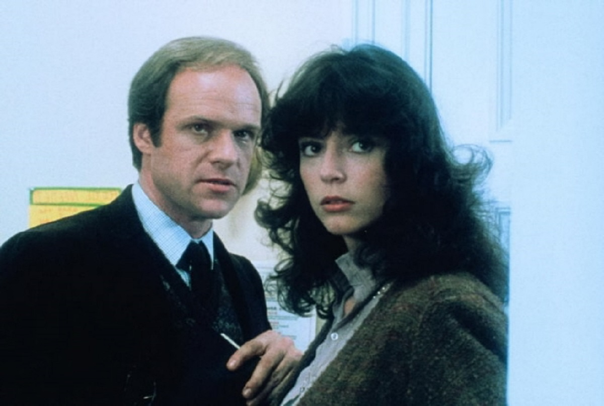 Drew Snyder and Rachel Ward in her acting debut in Night School (1981)