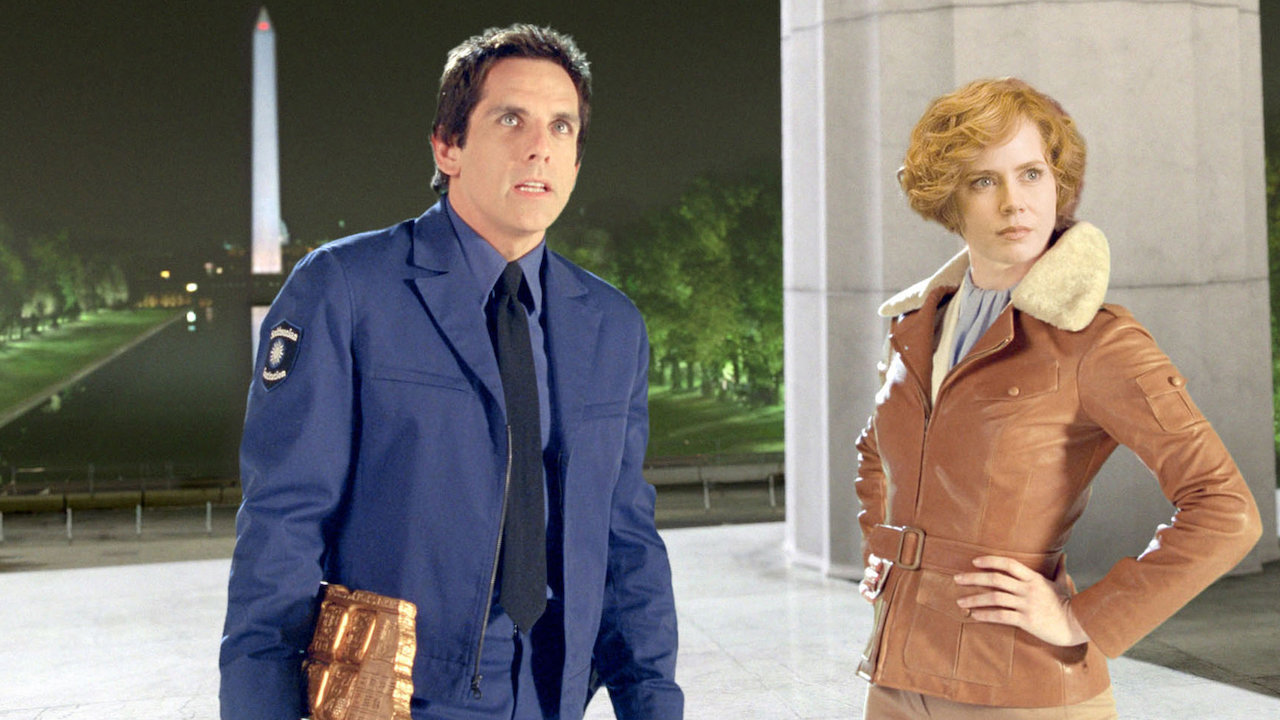 Ben Stiller back again as Larry Daley with Amy Adams as Amelia Earhart in Night at the Museum 2 (2009)