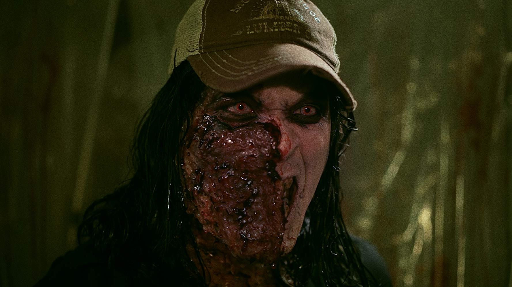 Morgue janitor Wayne W. Johnson becomes a zombie after having sex with a corpse in Night of Something Strange (2016)