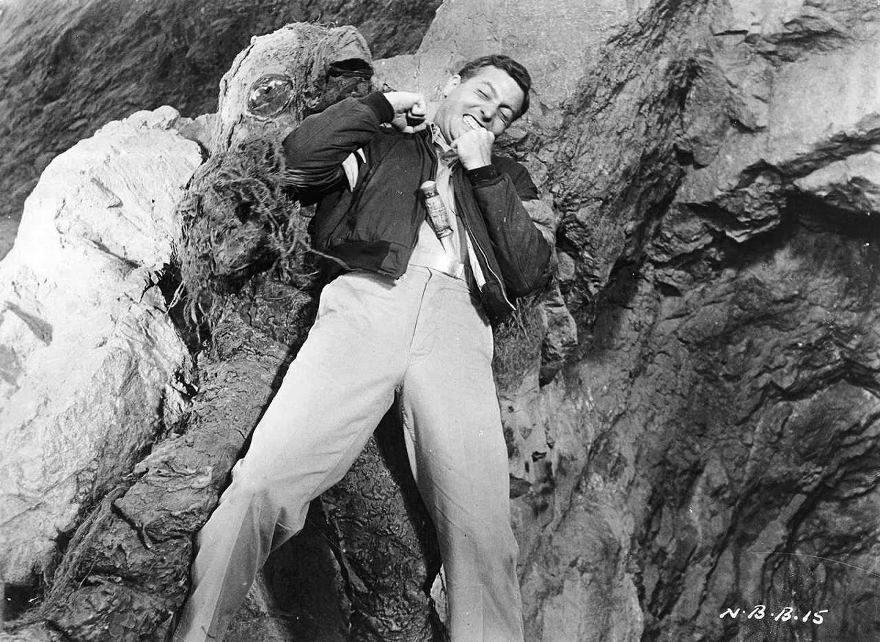 Michael Emmet tackles the alien invader in Night of the Blood Beast (1958)