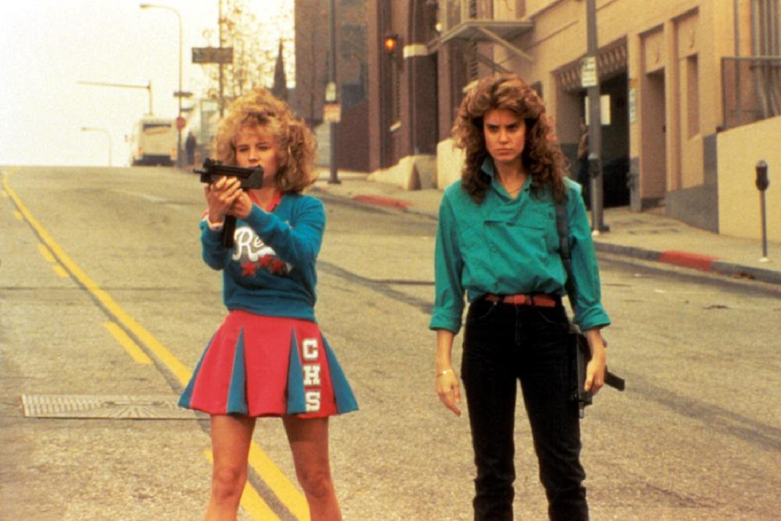 Sisters Kelli Maroney and Catherine Mary Stewart in Night of the Comet (1984)