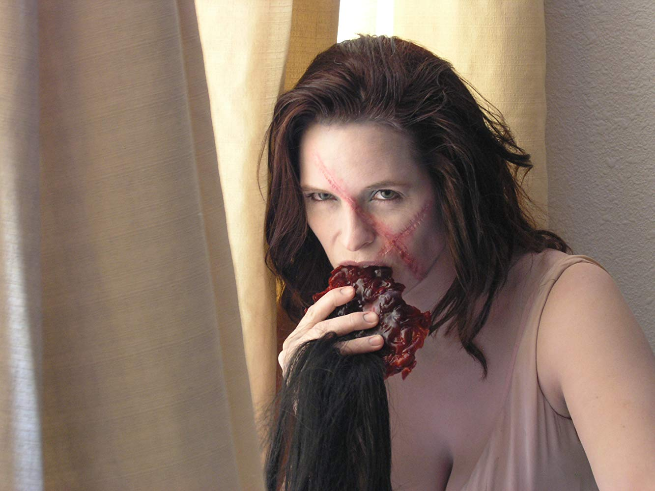 """Deidre Lyons as Dr Schreklich's reanimated wife Schatzi in Night of the Dead: """"Leben Tod"""" (2006)"""