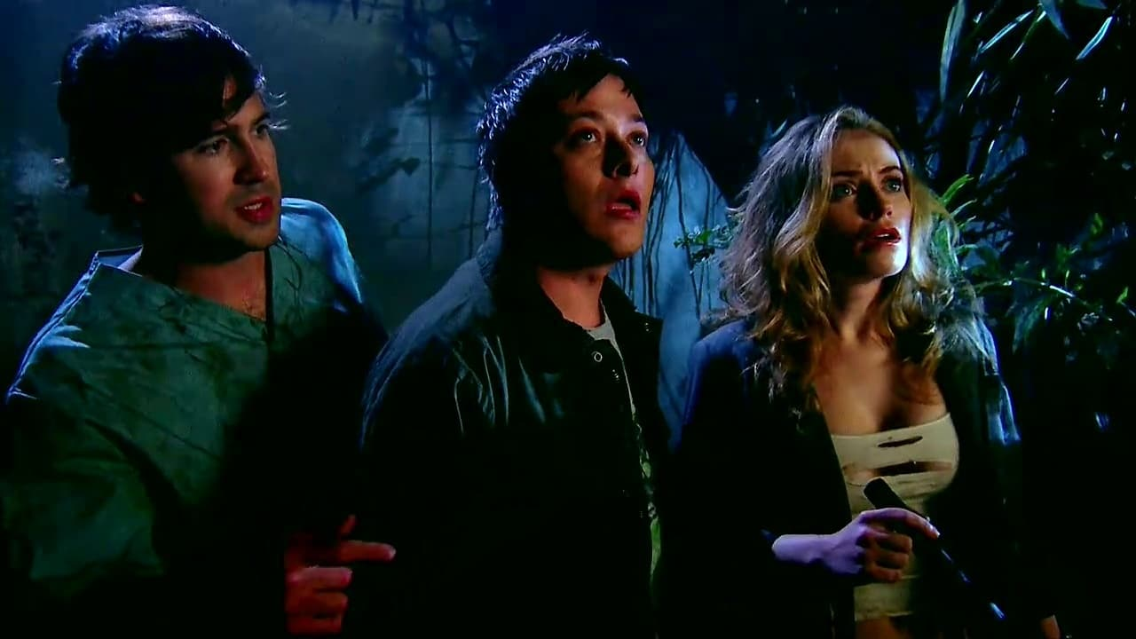 John F. Beach, Edward Furlong and Monica Keena venture into the mansion in Night of the Demons (2009)